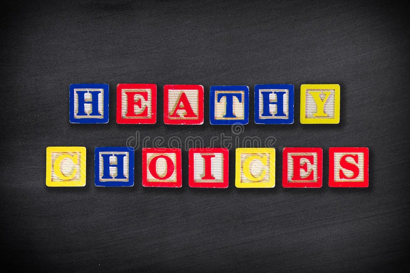 Healthy choices or lifestyle royalty free stock photography
