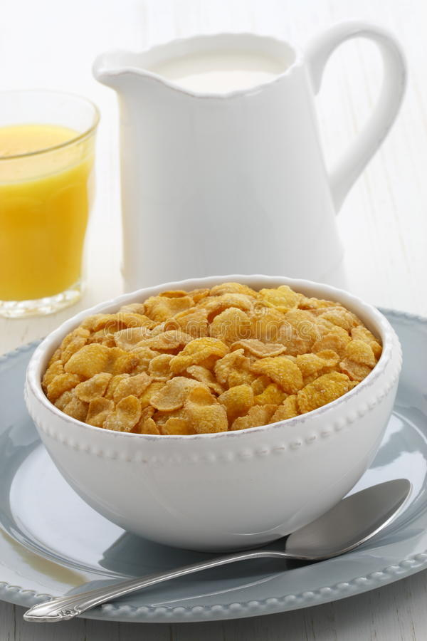 Download Healthy Corn Flakes Breakfast Stock Photo - Image: 35206832