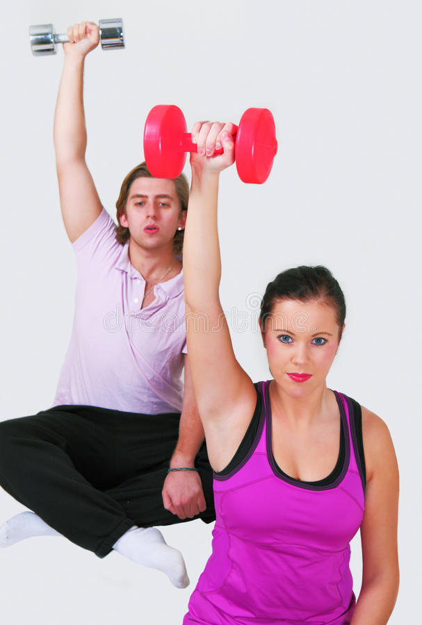 Download Healthy couple exercising stock image. Image of copy - 22307343
