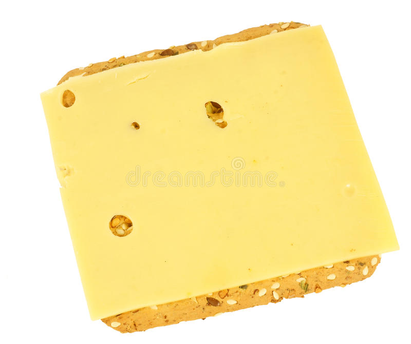 Healthy cracker with cheese royalty free stock image