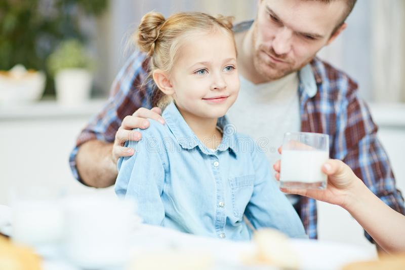 Healthy daughter royalty free stock photos