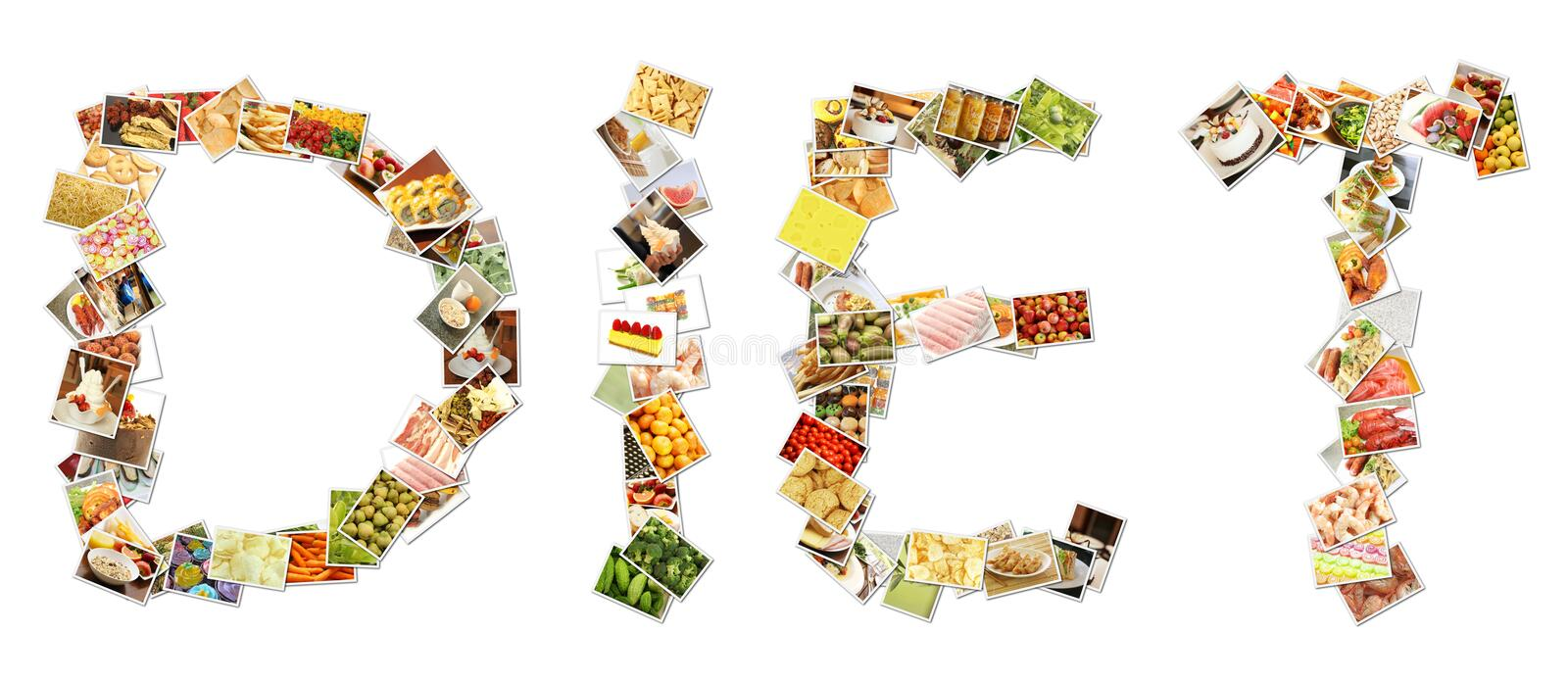 Healthy Diet Collage royalty free illustration