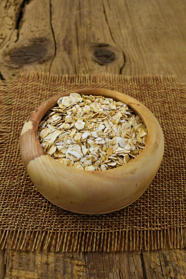 Oatmeal oat flakes  healthy food for slenderness slim stock images