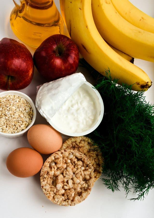 Healthy diet food for slenderness slim stock photo