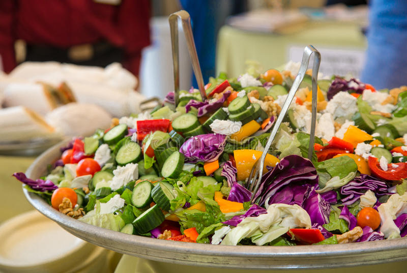 Healthy diet salad with fresh vegetables royalty free stock images