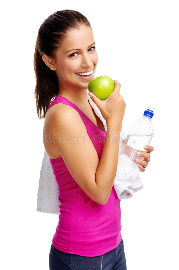 Healthy diet woman royalty free stock photos