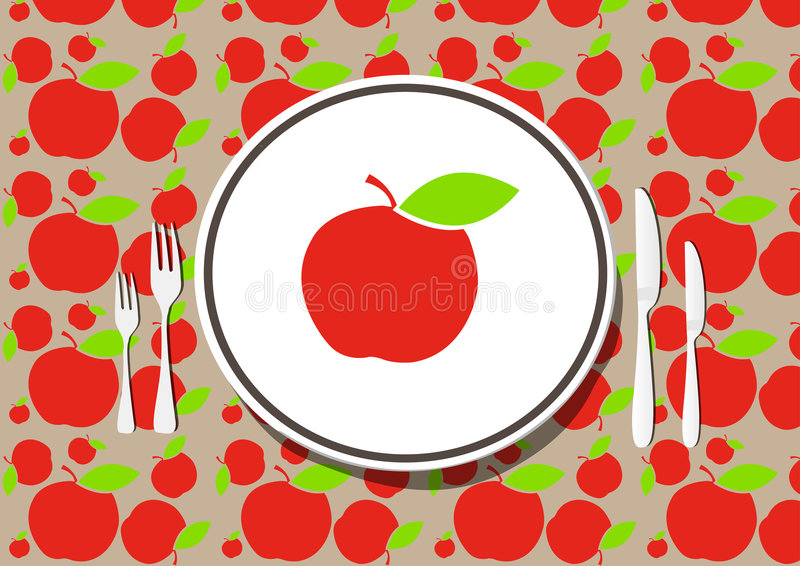 Healthy dining stock illustration