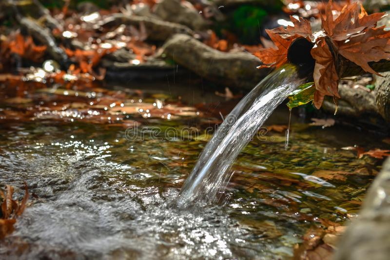 Natural, cold and fresh waters royalty free stock images