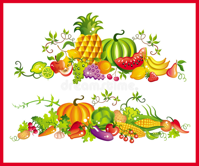 Healthy eating royalty free illustration