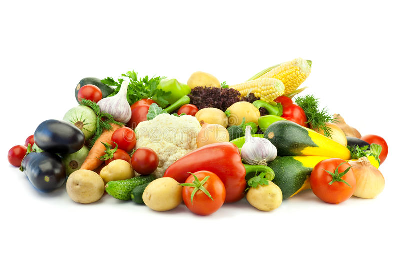 Healthy Eating / Assortment Of Organic Vegetables Royalty Free Stock Photography