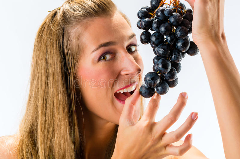 Healthy eating grapes