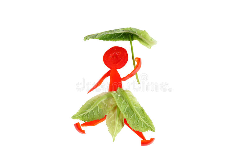 Healthy eating. Little funny woman of pepper. royalty free stock photos