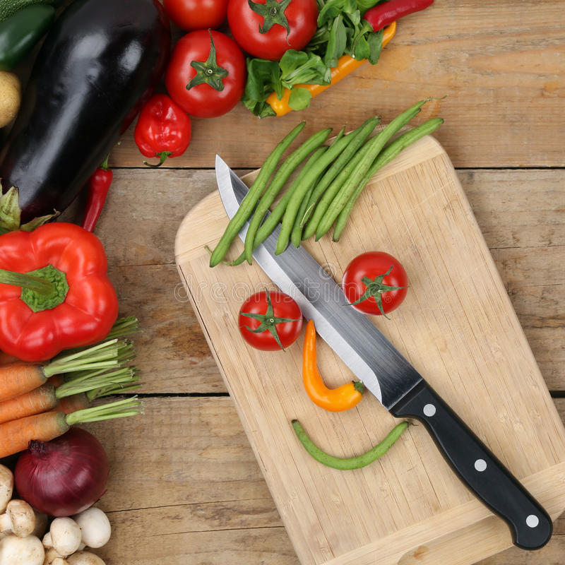 Healthy eating preparing food smiling vegetables face royalty free stock photo