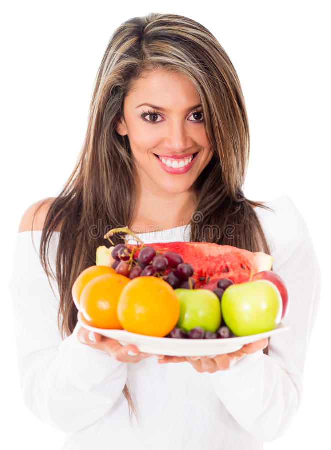 Healthy eating woman