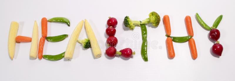 Healthy Eating Written In Fresh Veg Royalty Free Stock Image
