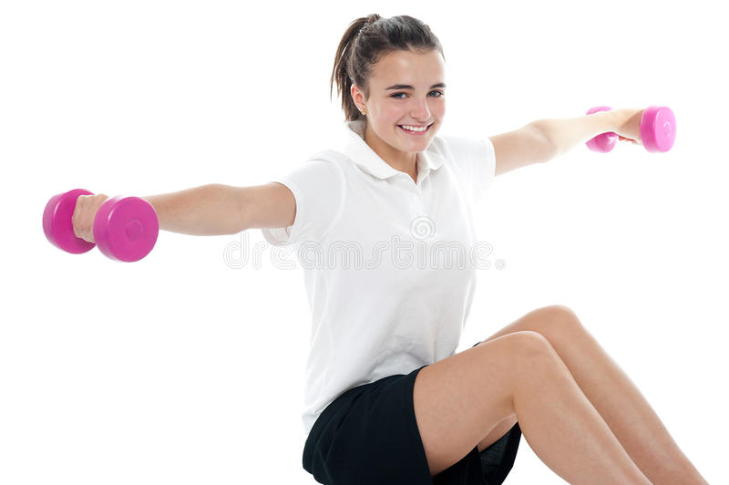 Healthy Exercising Fitness Caucasian Teenager Royalty Free Stock Images