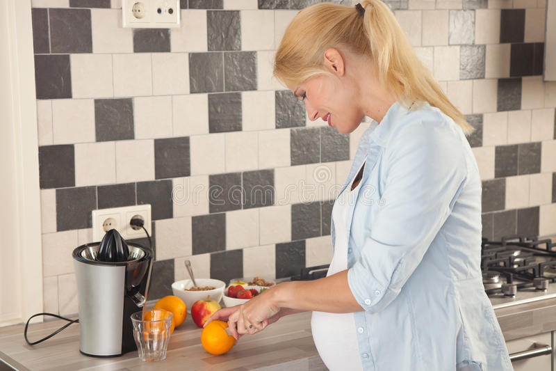Healthy and expecting stock photo