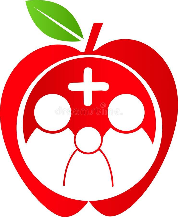 Healthy family. Vector illustration of healthy family logo royalty free illustration