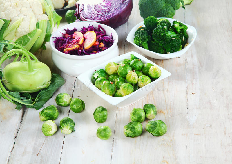 Healthy Farm Vegetables on Top of Wooden Table stock image