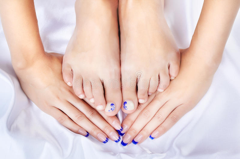 Healthy Feet And Hands Royalty Free Stock Photos