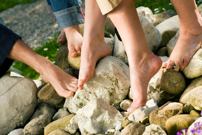 Download Healthy Feet: On The Stones Stock Image - Image: 12314485
