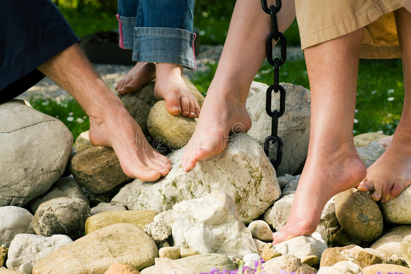 Download Healthy Feet: On The Stones Stock Image - Image: 12314531