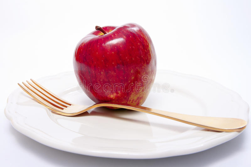 Healthy food. On white plate stock image