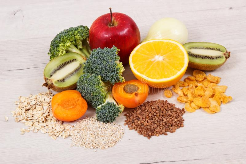 Healthy food as source vitamin PP and B3, dietary fiber and natural minerals. Healthy food as source vitamin PP and B3, dietary fiber and other natural minerals royalty free stock photography