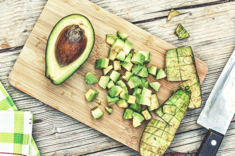Healthy food, avocado, vegetarian, ripe, cut, billet, salad, bruschetta, cutting, chicken stock images