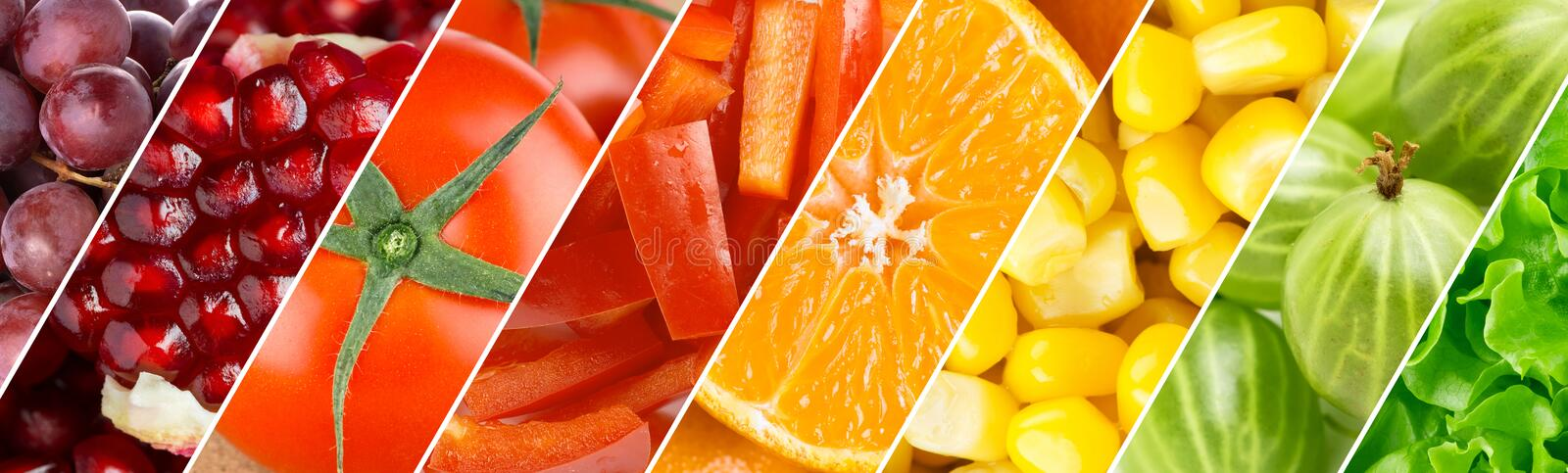 Healthy food background. Color fruits, berries and vegetables. Healthy food background. Fresh food stock photo