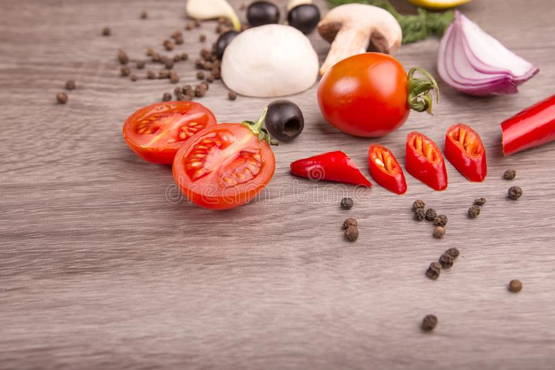 Download Healthy Food Background / Studio Photo Of Different Fruits And Vegetables On Wooden Table. Stock Photo - Image of cuisine, health: 111126916