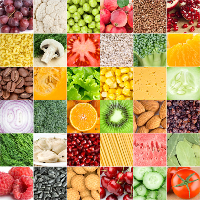 Healthy food backgrounds. Collection of healthy fresh food backgrounds royalty free stock photos