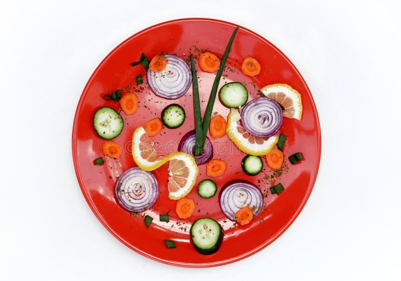 Healthy food clock stock photos