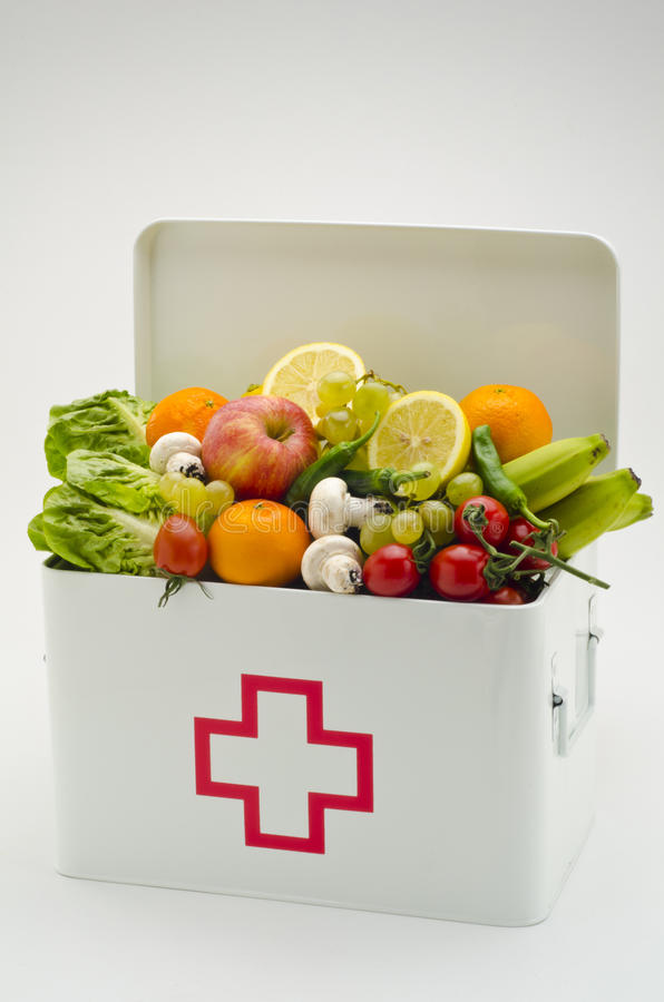 Download Healthy Food. First Aid Box Filled With Fruits And Vegetables. Stock Image - Image: 43462805