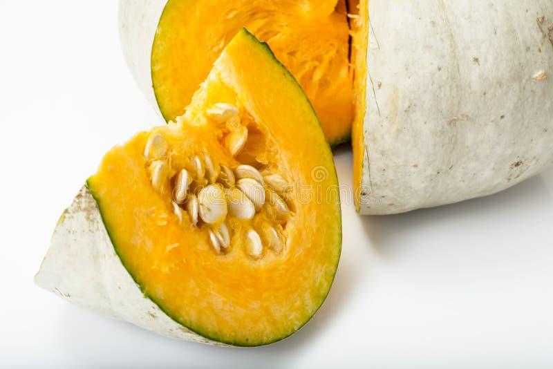 Healthy Food:Fresh Tasty Sweet Green Pumpkin royalty free stock images
