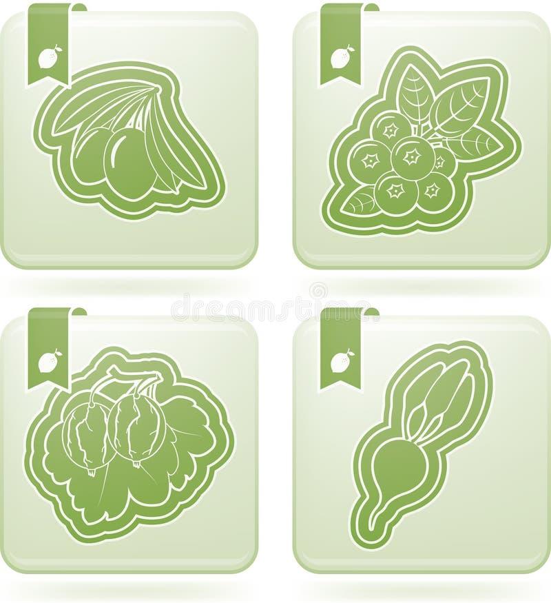 Vegetarian food royalty free illustration