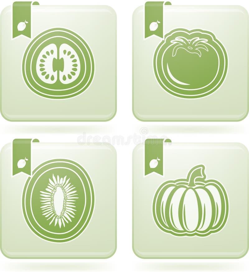 Vegetarian food vector illustration