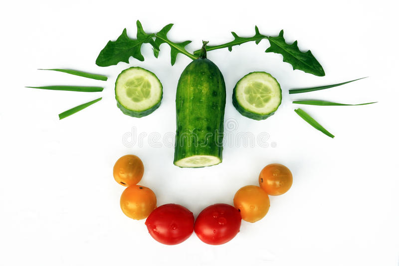 Healthy food is fun stock image