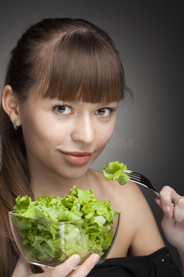 Healthy food for girl stock image