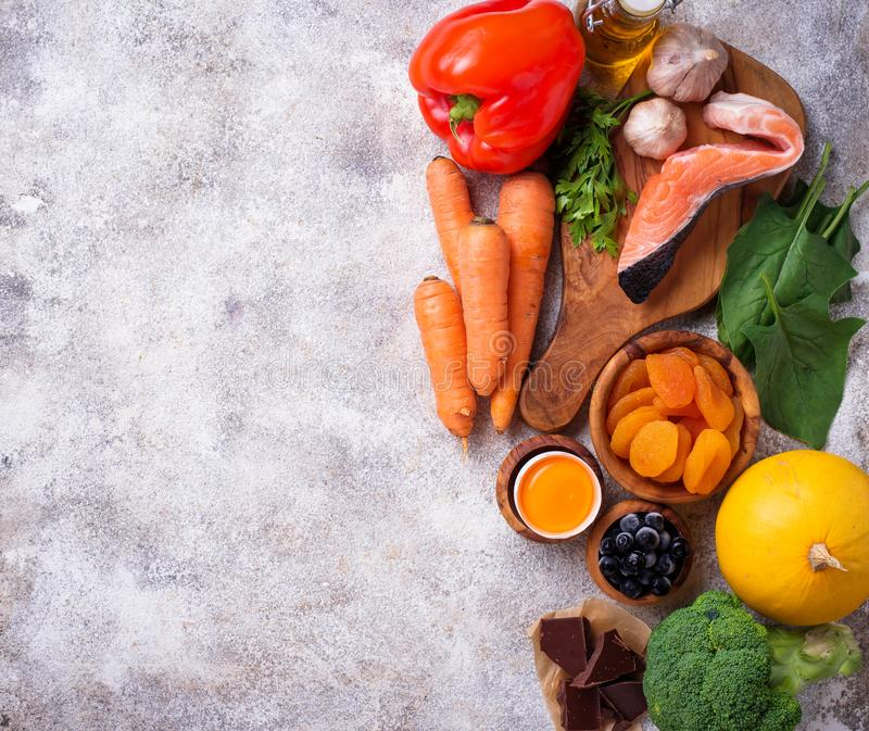 Healthy food good for vision royalty free stock photo