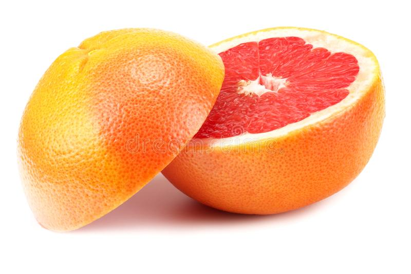 Healthy food. grapefruit isolated on white background stock photo