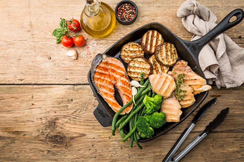 Healthy grill food stock images