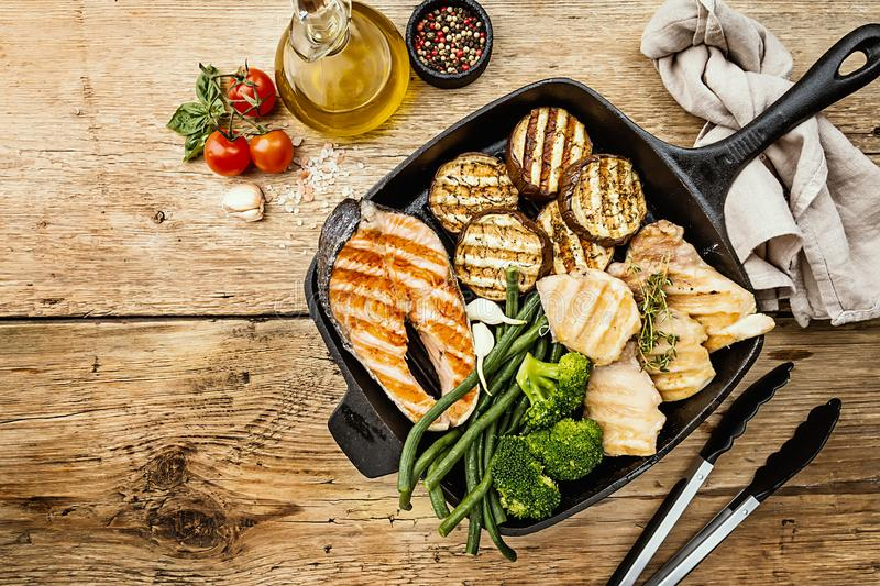 Healthy grill food royalty free stock images