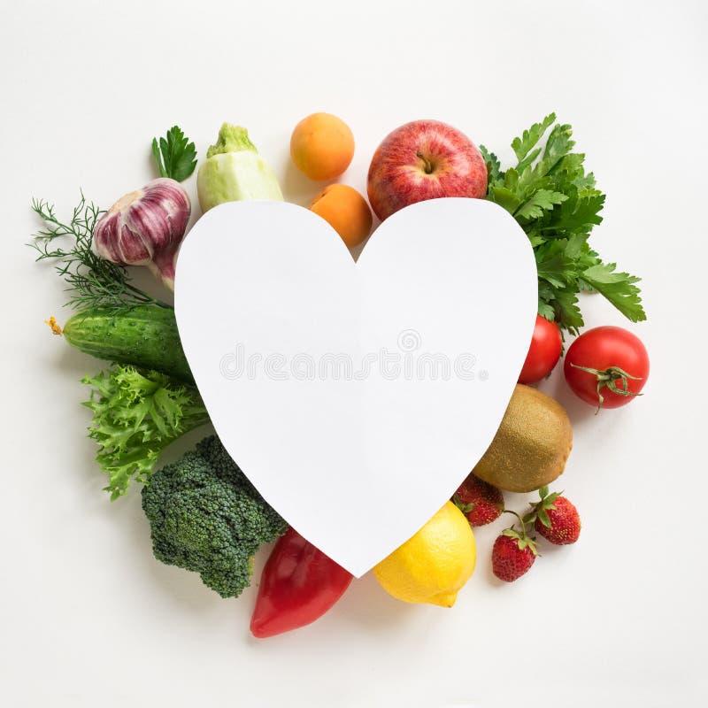 Healthy food for Heart stock photos
