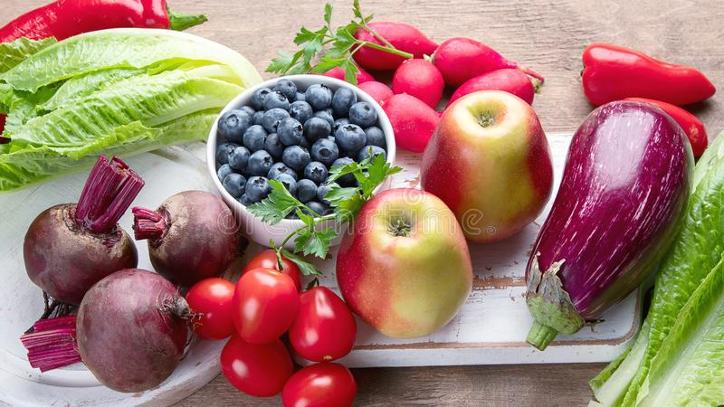 Healthy food  high in anthocyanins royalty free stock images