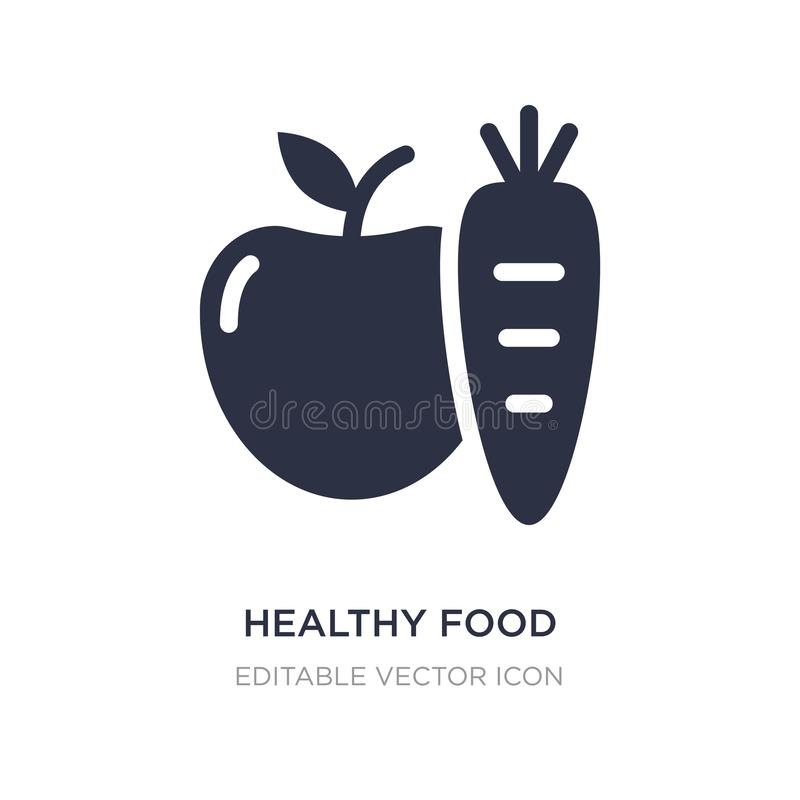healthy food icon on white background. Simple element illustration from Food concept vector illustration