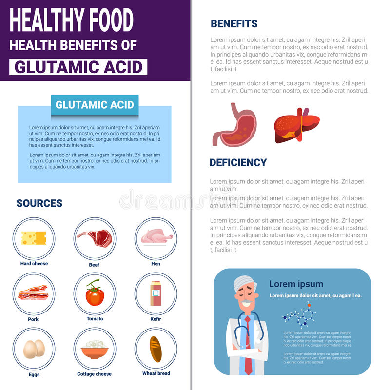 Healthy Food Infographics Products With Vitamins And Minerals Sources, Health Nutrition Lifestyle Concept. Flat Vector Illustration vector illustration