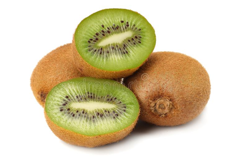 Healthy food. kiwi fruit isolated on white background stock photo