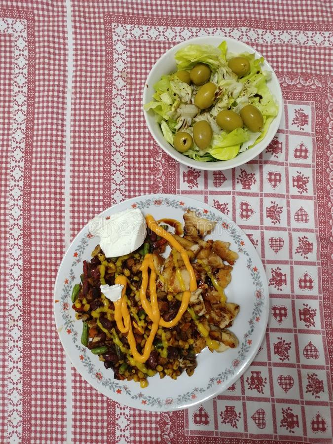 Food plates stock image