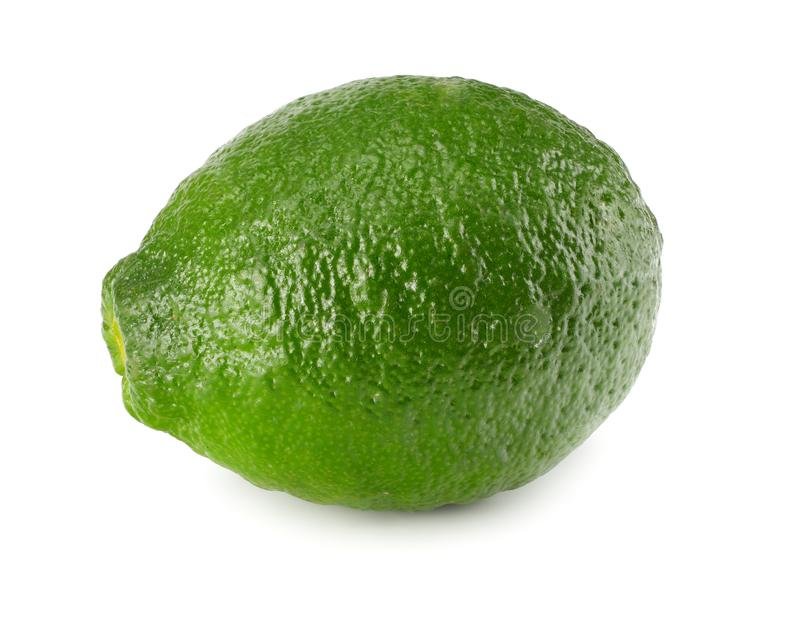 Healthy food. one lime isolated on white background royalty free stock image